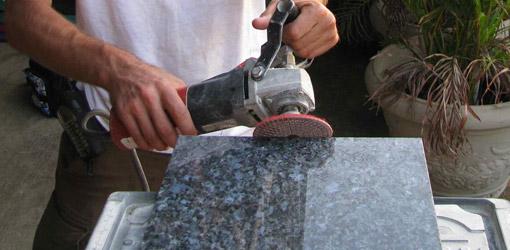đánh bóng đá granite