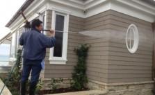 rửa tường nhà