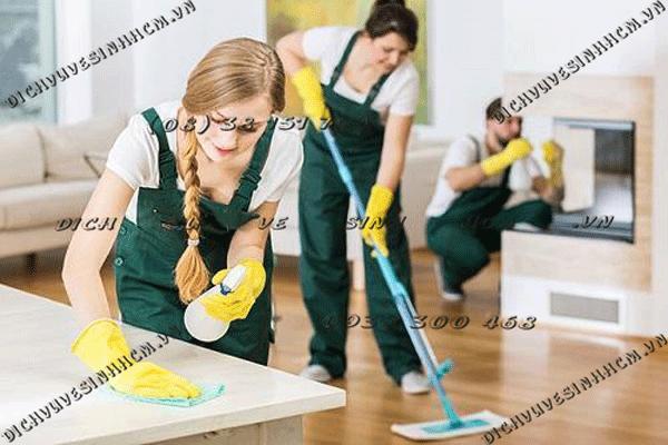 vệ sinh nhà sau xây dựng